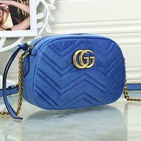 GG classic gold LOGO tote bag ladies one-shoulder messenger bag cosmetic bag