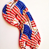 USA flag cotton sleep eye mask PJ Party Bridal party favor Spa party Bachelorette party Baby shower favor