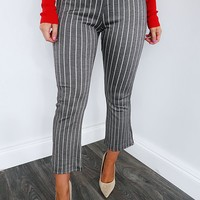 A Better You Pants: Grey/Ivory