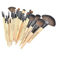Kisstyle 24 PCS Professional Beauty Cosmetic Makeup Brush Set_Beige