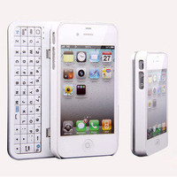 new Sliding Bluetooth Wireless Keyboard Hard Cover Case for Iphone4/4s/5