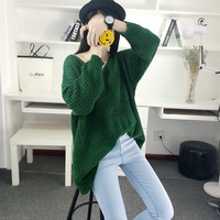 Fashion Simple Bat-wing Sleeve Knit Sweater