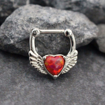 Heart Clicker in Fire Opal