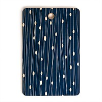 Heather Dutton Navy Entangled Cutting Board Rectangle