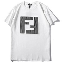 Fila Women Men Fashion Casual  Short Sleeve