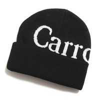 Wordmark Beanie Black