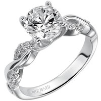"Artcarved ""Gabriella"" Twist Diamond Engagement Ring"
