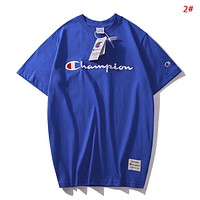 Champion New fashion embroidery letter couple top t-shirt 2#