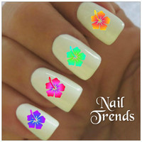 Flower Nail Decal. 20 Vinyl Stickers Nail Art
