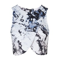 **Printed Crop Top By Kendall + Kylie at Topshop - Tops - Clothing