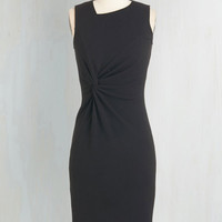 LBD Long Sleeveless Sheath Sassy to See Dress in Black