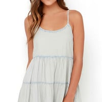 Billabong Day Wanderer Blue Chambray Dress