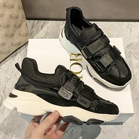 DIOR 2021 latest casual d-wonder sneakers Shoes Black