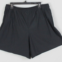 Island Escape shorts 22w 2x size Black Built in Pantie Elastic Waist Swim or Workout