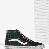 VansSk8-Hi Sneaker - Overwashed Plaid