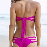 The Girl and The Water - Issa de Mar - Sunset Bikini Bottom / Fuschia - $62