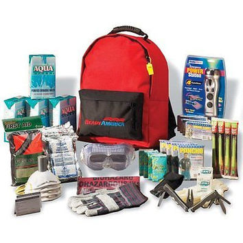 Ready America 70385 Deluxe Emergency Kit 4 Person Backpack  784497313200