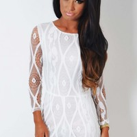 Ludo White Lace Overlay Playsuit | Pink Boutique