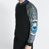 SWEATER WITH PRINTED SLEEVES - T - shirts - Man | ZARA United States