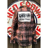 Herd That Distressed Flannel -Black Angry Minnow Vintage