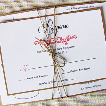 Modern Rustic Mason Jar Wedding Invitation Tied With Twine Layered on Kraft Deposit Listing