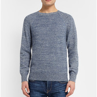 A.P.C. - Knitted-Camel Crew Neck Sweater   MR PORTER