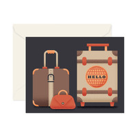 """""""Hello"""" Stitched Luggage Card"""