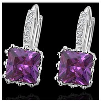 Fashion box zircon crystal temperament earrings earrings earrings