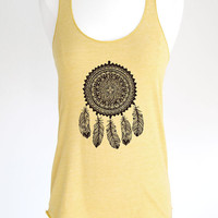 Dreamcatcher 5 Native American tribal art design Soft Eco-Heather Racerback Tank by Alternative Apparel