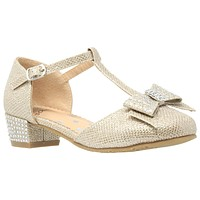 Toddler & Youth T-Strap Gold Glitter Mary Jane Pump