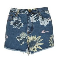 Fiona Floral High Waisted Shorts