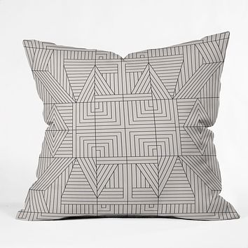 Holli Zollinger LINE MANDALA Outdoor Throw Pillow