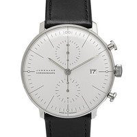Max Bill Automatic White Chronoscope Watch by Junghans