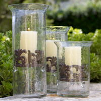 GG Collection Glass Candleholders