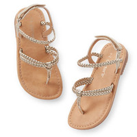 Carter's Gold Braided Strappy Sandals
