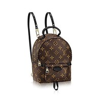 Authentic Louis Vuitton Monogram Canvas Palm Springs Backpack Mini Handbag Article: M41562 Made in France I