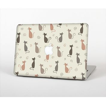"""The Vintage Solid Cat Shadows Skin Set for the Apple MacBook Pro 15"""""""