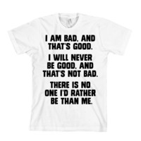 Bad Guy Affirmation T-Shirt Wreck-It Ralph - Limited Edition - American Apparel Unisex Sizes S, M, L, XL - Custom Color