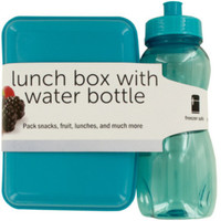 lunch box with water bottle Case of 4