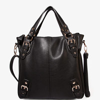 Faux Leather Carry-All