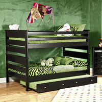 Chelsea Home Full Over Full Bunk Bed in Black Cherry