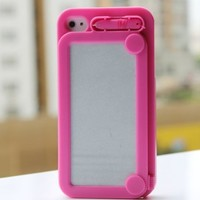 Creative Drawing Board Protective Case iPhone 4/4S Hot Pink [3311]