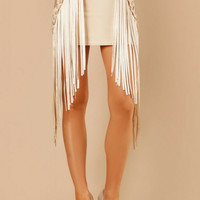 Braided Fringe Bandage Skirt