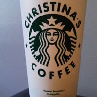Starbucks Personalized Hot Coffee Cup Mug with Lid Reuseable Grande