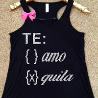 Te Amo - Tequila Tank - Ruffles with Love - RWL - Workout Tank - Fitness Tank - Graphic Tee - Funny Tank - Cardio
