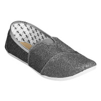 Zoey Glitter Slip On   Shop Shoes at Wet Seal