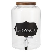 Threshold™ Chalkboard Beverage Dispenser with Acacia Lid - Clear