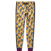 Gucci - Tapered Printed Satin-Jersey Sweatpants