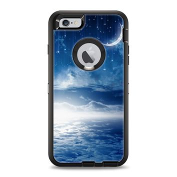 The Vivid Blue Falling Stars in the Night Sky Apple iPhone 6 Otterbox Defender Case Skin