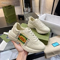 Gucci GG Rhyton Leather Sneakers Shoes